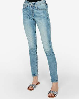 Express Mid Rise Light Wash Jean Leggings