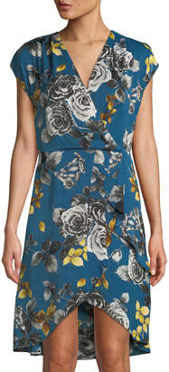 Rachel Roy Pierce Floral-Print Wrapped Dress