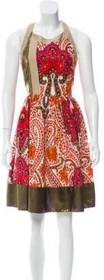Thakoon Floral & Metallic A-Line Dress