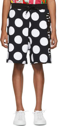 Moschino Black and White Dot Shorts