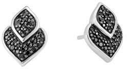 John Hardy Sterling Silver Legends Naga Black Sapphire and Black Spinel Stud Earrings