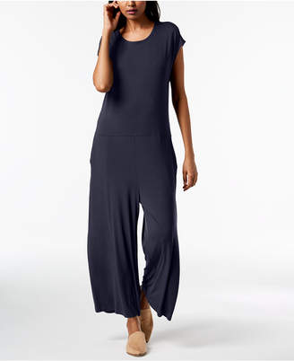 Eileen Fisher Stretch Jersey Cropped Wide-Leg Jumpsuit, Regular & Petite