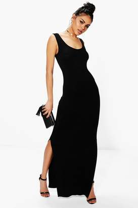 boohoo Sleeveless with Side Splits Maxi Dress