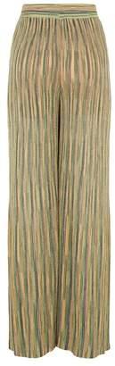 M Missoni Metallic Stripe Trousers