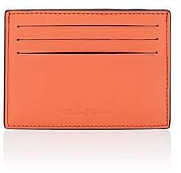 Salvatore Ferragamo Men's Flat Leather Card Case - Orange