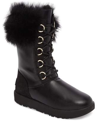 UGG AYA Genuine Shearling Waterproof Leather Boot