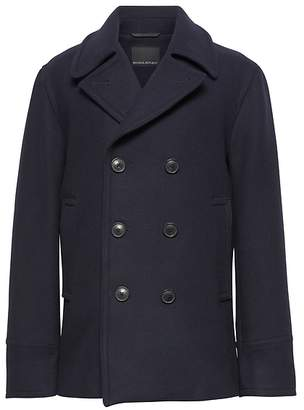 Banana Republic Italian Melton Peacoat