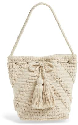 Sole Society Fabric Bucket Bag