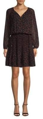 MICHAEL Michael Kors Self-Tie Floral Blouson Dress