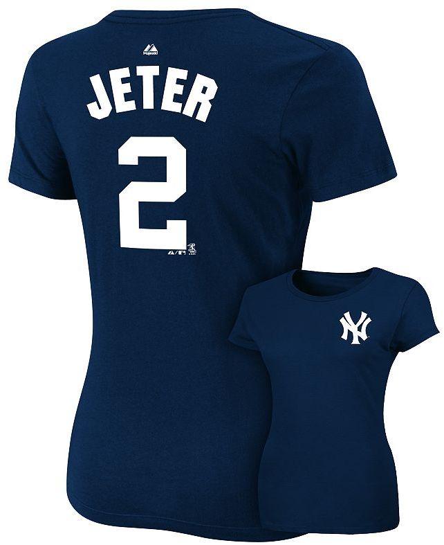 New York Yankees Majestic derek jeter tee - women