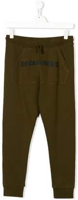 DSQUARED2 logo printed track pants