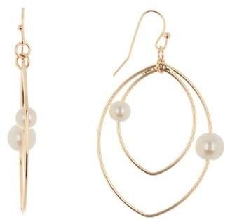 14th & Union Faux Pearl Double Teardrop Earrings