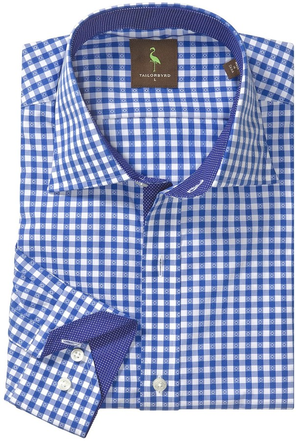 Tailorbyrd Donjay Gingham Shirt - Spread Collar, Long Sleeve (For Men)