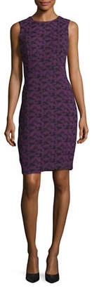 Calvin Klein Jacquard Sheath Dress