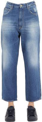 Stretch Cotton Denim Boyfriend Jeans $206 thestylecure.com