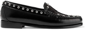 RE/DONE Weejuns The Whitney Studded Glossed-leather Loafers - Black
