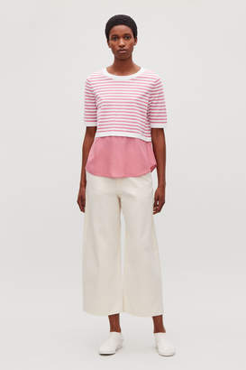 Cos STRIPED KNIT TOP WITH SILK