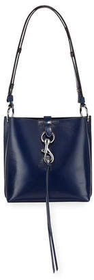 Rebecca Minkoff Megan Small Leather Feed Bag, Blue