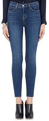 L'Agence Women's Margot High-Rise Skinny Crop Jeans - Dk. Blue