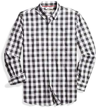 Goodthreads Men's Standard-Fit Long-Sleeve Heathered Scale Check Shirt
