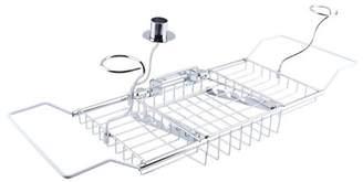 Eecoo Bathroom Bathtub Shower Tub Caddy Storage Organizer, Bathroom Basket Conditioner, Soap, Razor Storage Shelves, Soap Red Wine Rack Holder