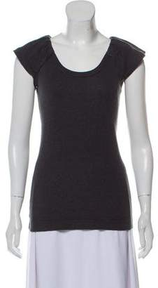 Dolce & Gabbana Scoop Neck Cap Sleeve T-Shirt