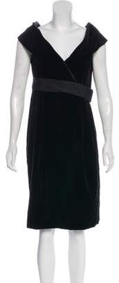 Alexander McQueen Velvet Off-the-Shoulder Dress w/ Tags