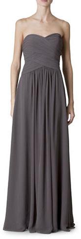 Monique Lhuillier Bridesmaids Strapless Chiffon Gown