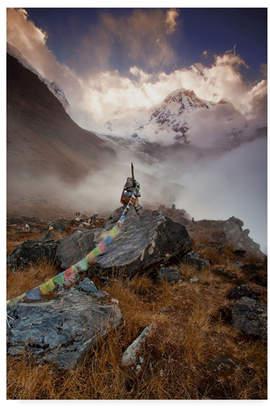 """Annapurna Everlook Photography 'Annapurna South' Canvas Art - 24"""" x 16"""" x 2"""""""