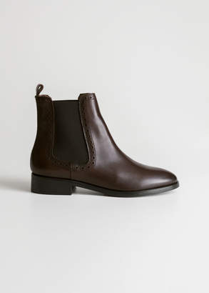 And other stories Perforated Leather Chelsea Boots