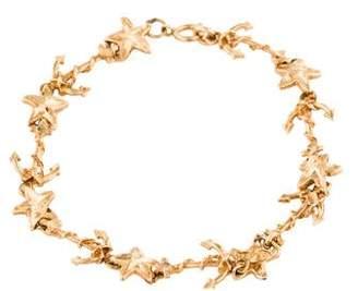 14K Star & Anchor Link Bracelet