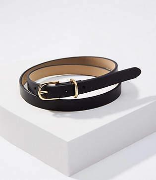 LOFT Leather Skinny Belt