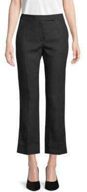 Max Mara Flare Linen Ankle Pants
