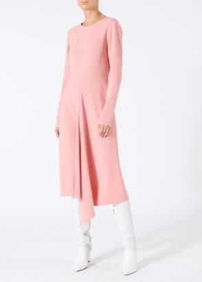 Tibi Triacetate Dress with V-Back
