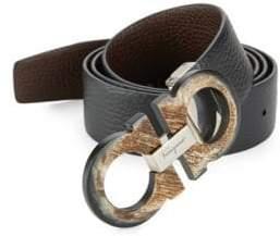 Salvatore Ferragamo Adjustable& Reversible Gancini Buckle Belt