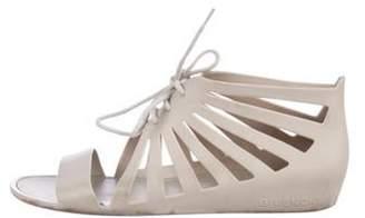 Givenchy Rubber Wrap-Tie Sandals Beige Rubber Wrap-Tie Sandals
