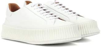 Jil Sander Platform leather sneakers