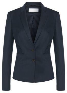 Hugo Boss Jalanda Wool Textured Stripe Blazer 10 Patterned $595 thestylecure.com
