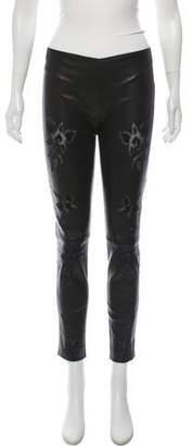 Jitrois Mid-Rise Vegan Leather Pants