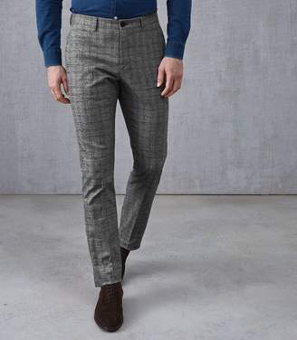 Reiss Nano Slim Fit Checked Trousers