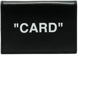Off-White black and white Card small leather wallet