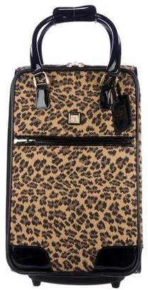Diane von Furstenberg Leather-Trimmed Jacquard Suitcase