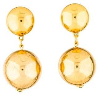 Oscar de la Renta Ball Drop Clip-On Earring
