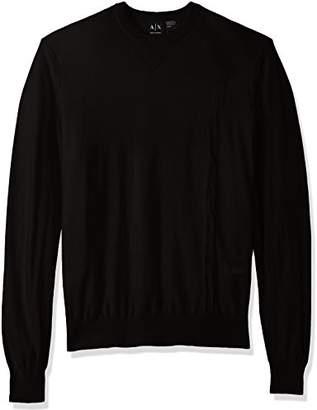 Armani Exchange A X Men's Long Sleeve Crew Neck Pullover Knit Reg Fit