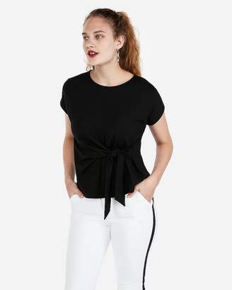Express Side Tie Waist Tee