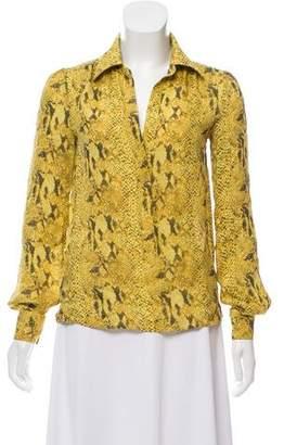 Haute Hippie Animal Printed Silk Tunic
