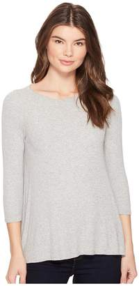 Three Dots 3/4 Sleeve Swing Tee Women's Long Sleeve Pullover