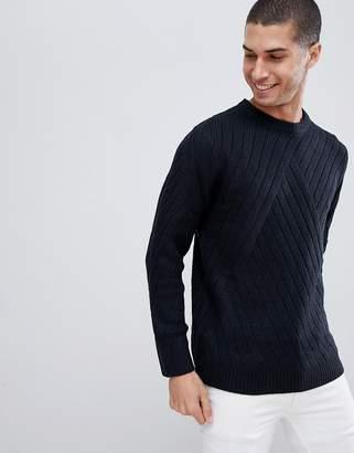 Bellfield Jacquard Crew Neck Sweater