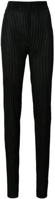 Vionnet velvet striped skinny trousers
