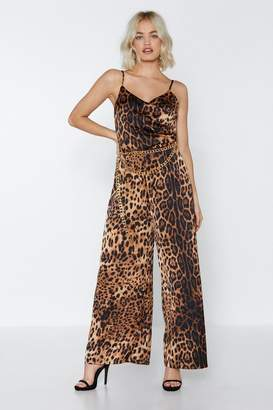 Nasty Gal Party Animal Leopard Jumpsuit